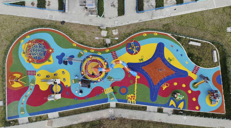Parque ciudadela porvenir etapa 1 bogota colombia parque infantil juegos infantiles redes berliner galopin kompan bogota