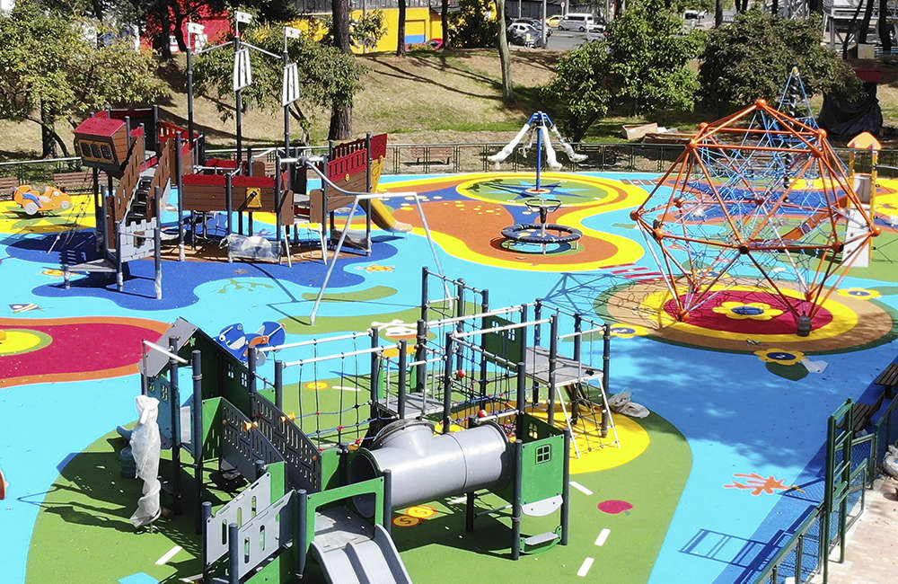 Parque-infantil-bogota-PARQUE DE LOS NOVIOS-KOMPAN- juegos infantiles