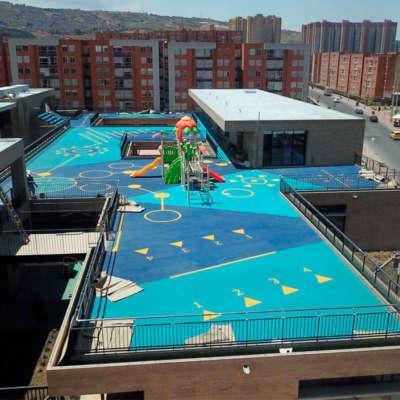 Colegio-rogelio-salmona-bogota-piso-caucho-EPDM